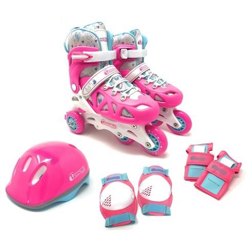 Chicago Skates Training Kids' Roller Skate Combo Set - Pink/White - image 1 of 4