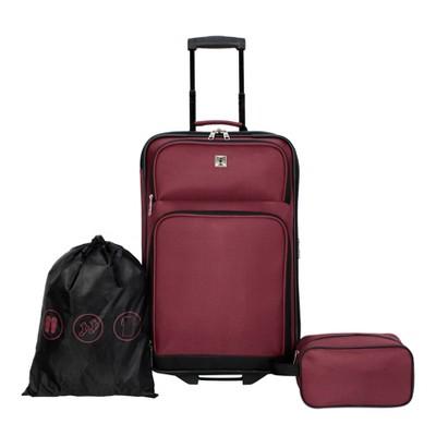 Skyline 3pc Luggage Set - Solid Burgundy