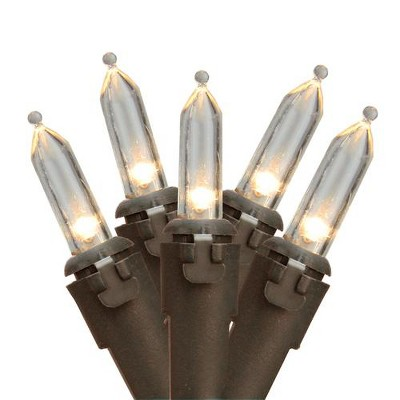 Northlight 35 White LED Mini Christmas Lights - 11.25 ft Brown Wire
