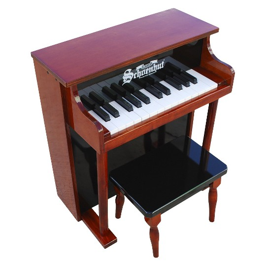 Schoenhut 25-Key Traditional Spinet - Mahogany/Black image number null