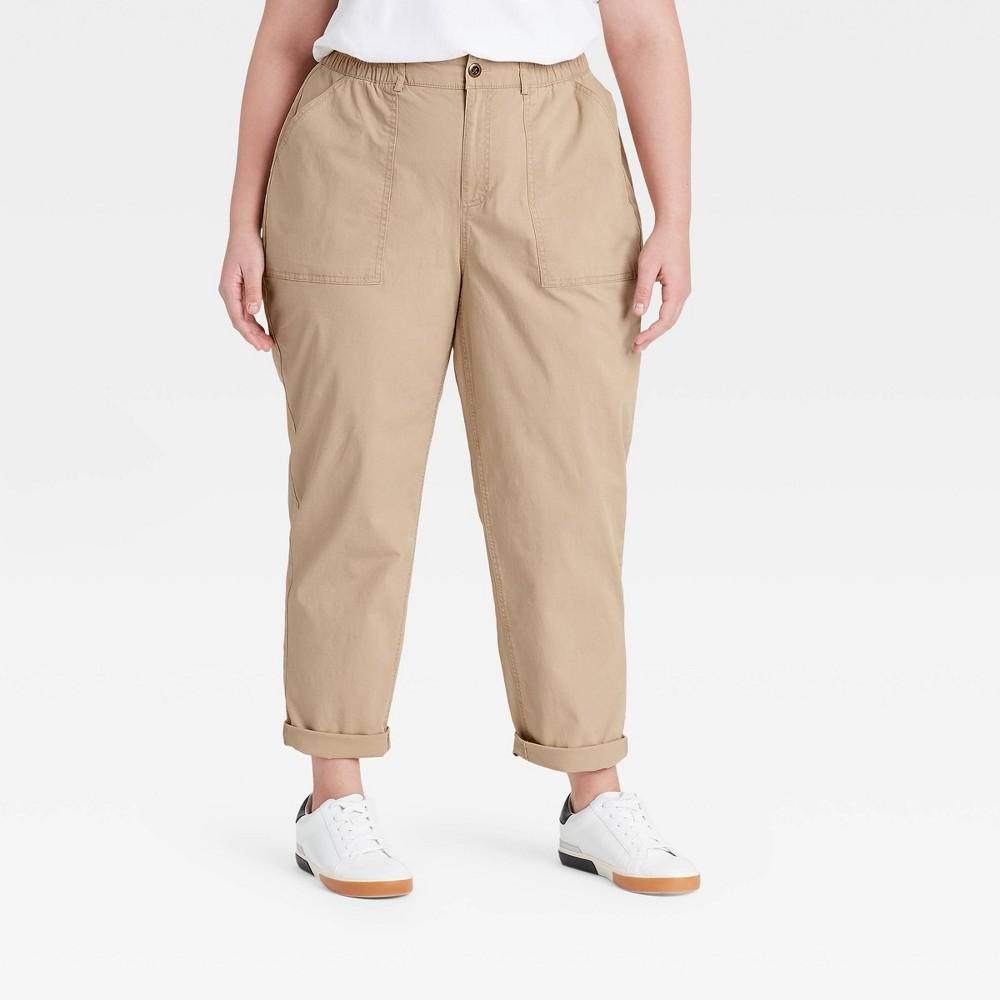 Women 39 S Plus Size Casual Pants Ava 38 Viv 8482 Tan 22w