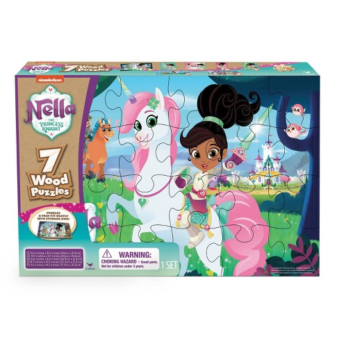 Nella The Princess Knight 7pk Wood Puzzle 108pc - image 1 of 1