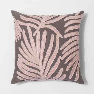 Pink Leaf With Tassel Throw Pillow - Project 62™