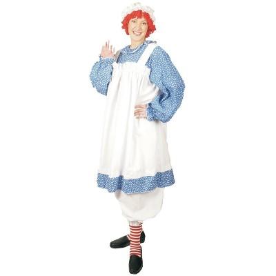 Women's Plus Size Raggedy Ann Costume Blue 1X