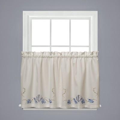 Saturday Knight Ltd Seabreeze Linen Textured 2-Piece Window Tier