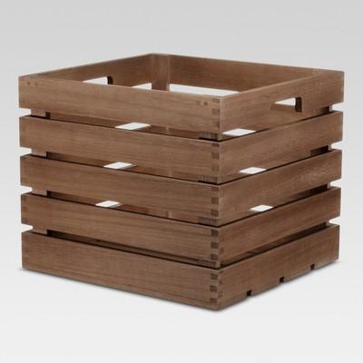 Cube Storage Basket 13 x14 x12  Brown - Threshold™