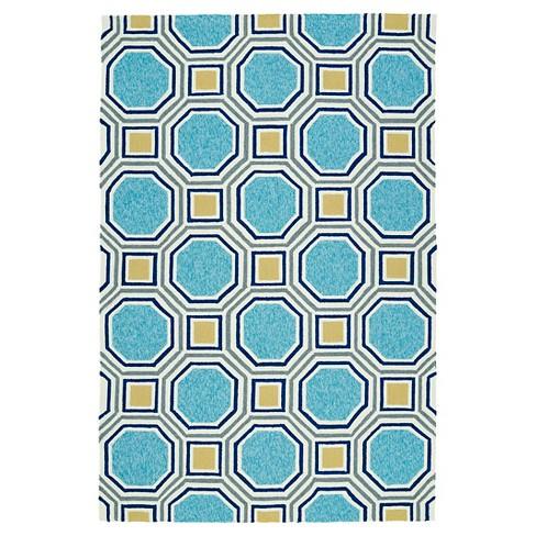 Floor Mat 2'X3' Kaleen Rugs Blue - image 1 of 3