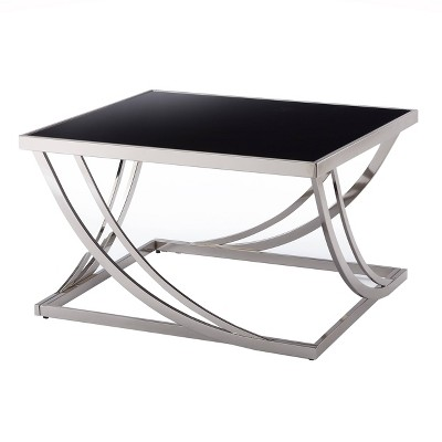 Tyron Steel Arch Curved Sculptural Coffee Table Black - Inspire Q