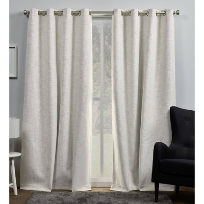 """Set of 2 84""""x54"""" Burke 100% Blackout Grommet Top Curtain Panel Brown - Exclusive Home"""