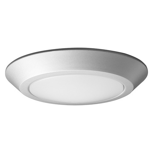 Aurora Lighting 1 Light Brushed Flush Mount Ceiling Lights Nickel - image 1 of 1