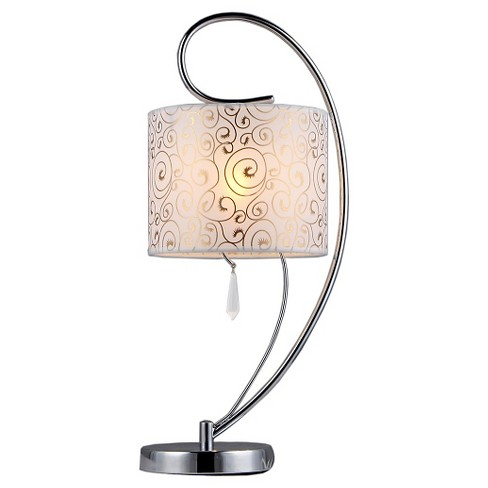 Warehouse Of Tiffany Table Lamp  -Silver - image 1 of 2