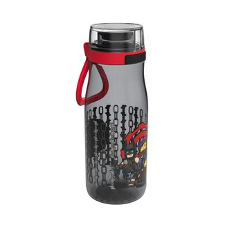 LEGO 17oz Plastic Water Bottle Black/Red - Zak Designs