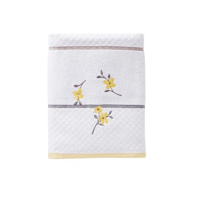 Spring Garden Bath Towel White - Saturday Knight Ltd.