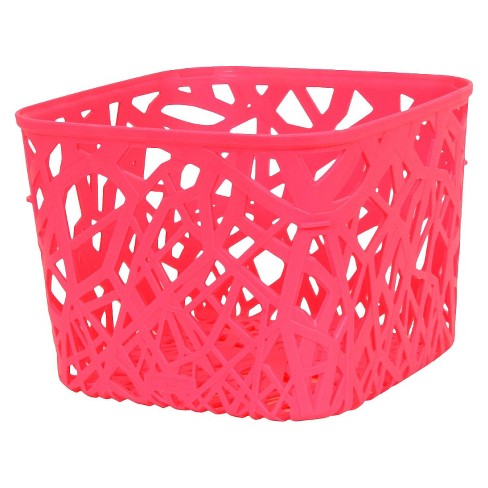 Room Essentials™ Branch Weave Storage Bin Set of 4 - Luminous Coral Small - image 1 of 2