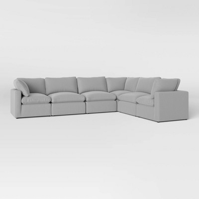 6pc Allandale Modular Sectional Sofa Set Gray - Project 62™