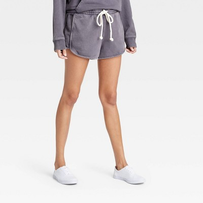 Women's Mid-Rise French Terry Pull-On Shorts - Universal Thread™