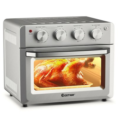 Costway 7-in-1 Air Fryer Toaster Oven 19 QT Dehydrate Convection Ovens w/ 5 Accessories