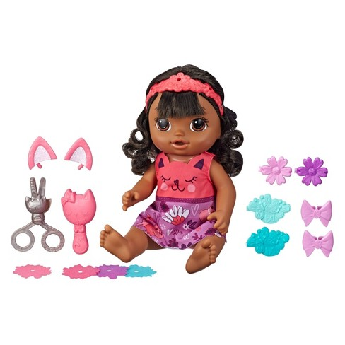 Baby Alive Snip 'n Style Baby - Black Hair - image 1 of 4