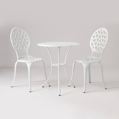 Vashon Aluminum Bistro Set - White - Balkene Home - image 1 of 4