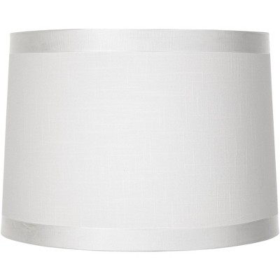 Brentwood Off-White Fabric Drum Shade 13x14x10 (Spider)