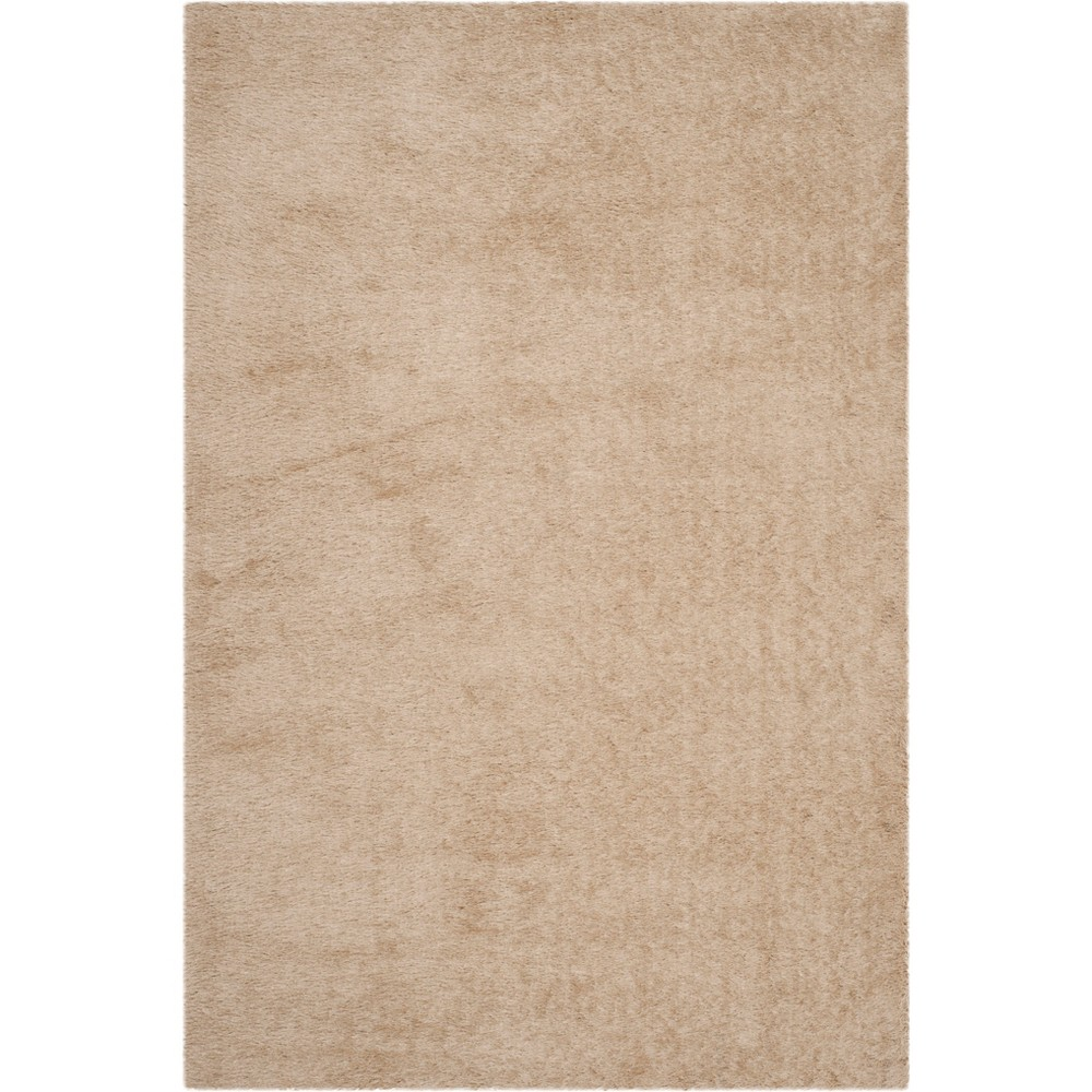 6'X9' Solid Tufted Area Rug Champagne/Light Gray (Beige/Light Gray) - Safavieh