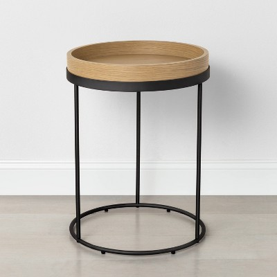 Wood & Steel Accent Table Black - Hearth & Hand™ with Magnolia