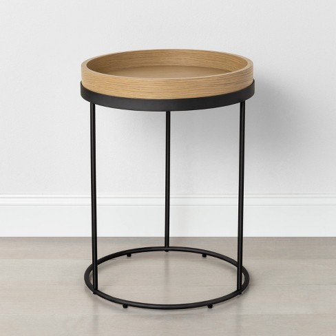 Wood & Steel Accent Table Black - Hearth & Hand™ with Magnolia - image 1 of 4