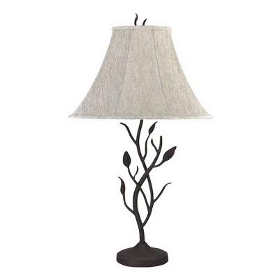 "33"" Metal Hand Forged Table Lamp Black - Cal Lighting"