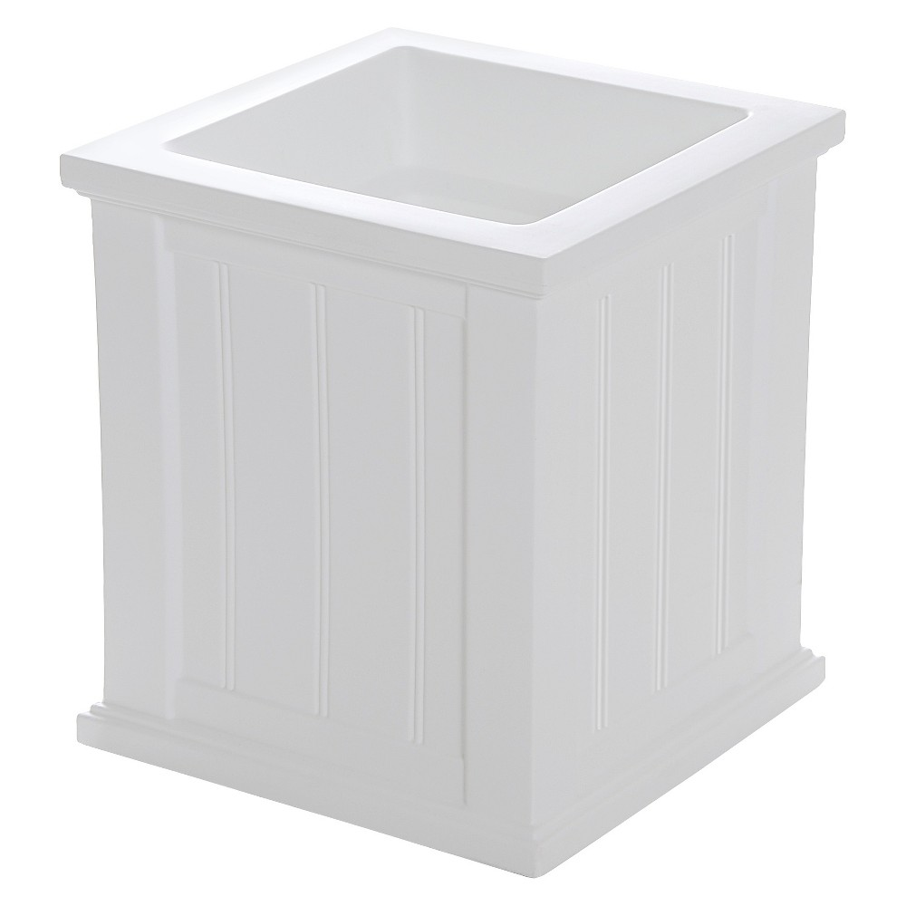 "Image of ""16""""x16"""" Cape Cod Square Outdoor Planter White - Mayne"""