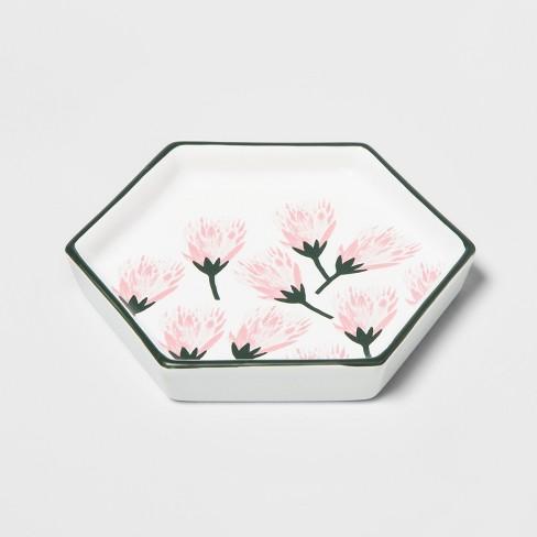 Hexagon Jewelry Storage Tray Protea Flower - Opalhouse™ - image 1 of 2
