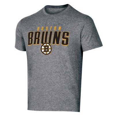 NHL Boston Bruins Men's Short Sleeve Heather T-Shirt - L