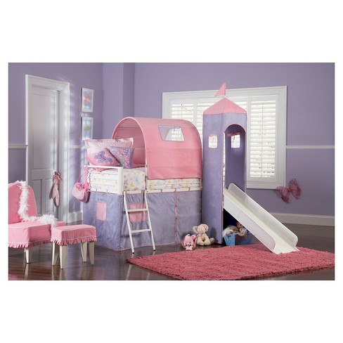 Twin Bella Princess Castle Bed With Slide Powell Target