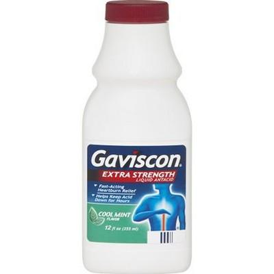 Gaviscon Extra Strength Antacid Liquid - Cool mint 12oz