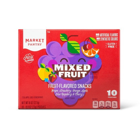 Mixed Fruit Flavored Snacks - 10ct - Market Pantry™ - image 1 of 3