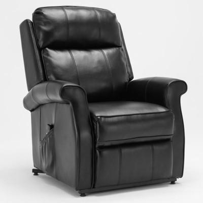 Lehman Black Traditional Lift Chair - Comfort Pointe