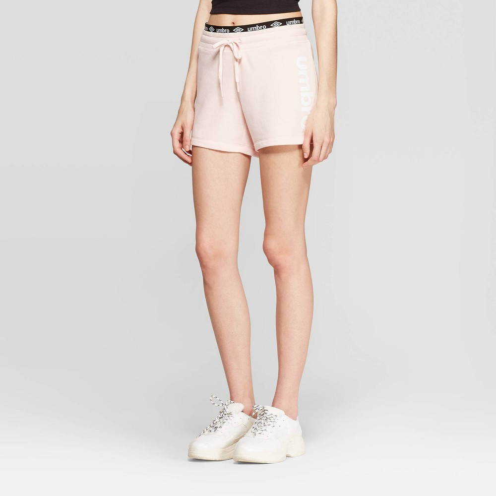 Umbro Women's French Terry Shorts - Pink M