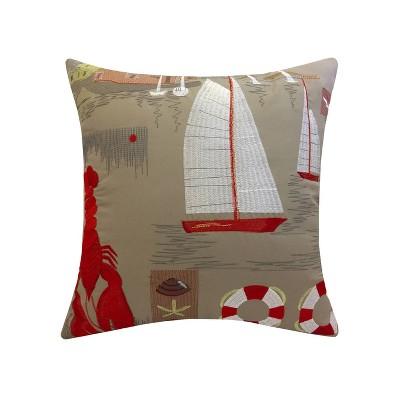 """17"""" x 17"""" Sail Patio Throw Decorative Pillow - Edie@Home"""