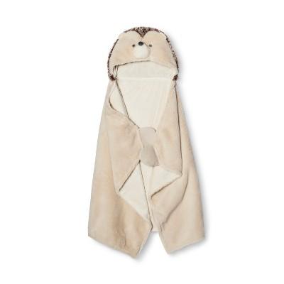 Hooded Baby Blanket Hedgehog - Cloud Island™ - Beige