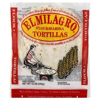 El Milagro Flour Tortillas - 12oz/12ct