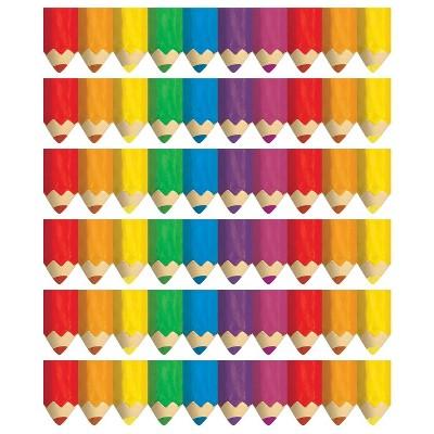 6pk 35' per Pack Jumbo Colored Pencils Border - Creative Teaching Press