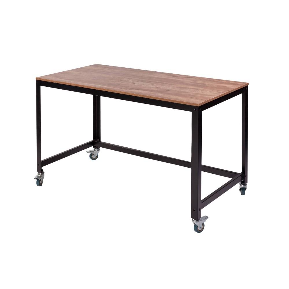 Image of Loft Writing Desk Dark Oak - Onespace, Dark Brown