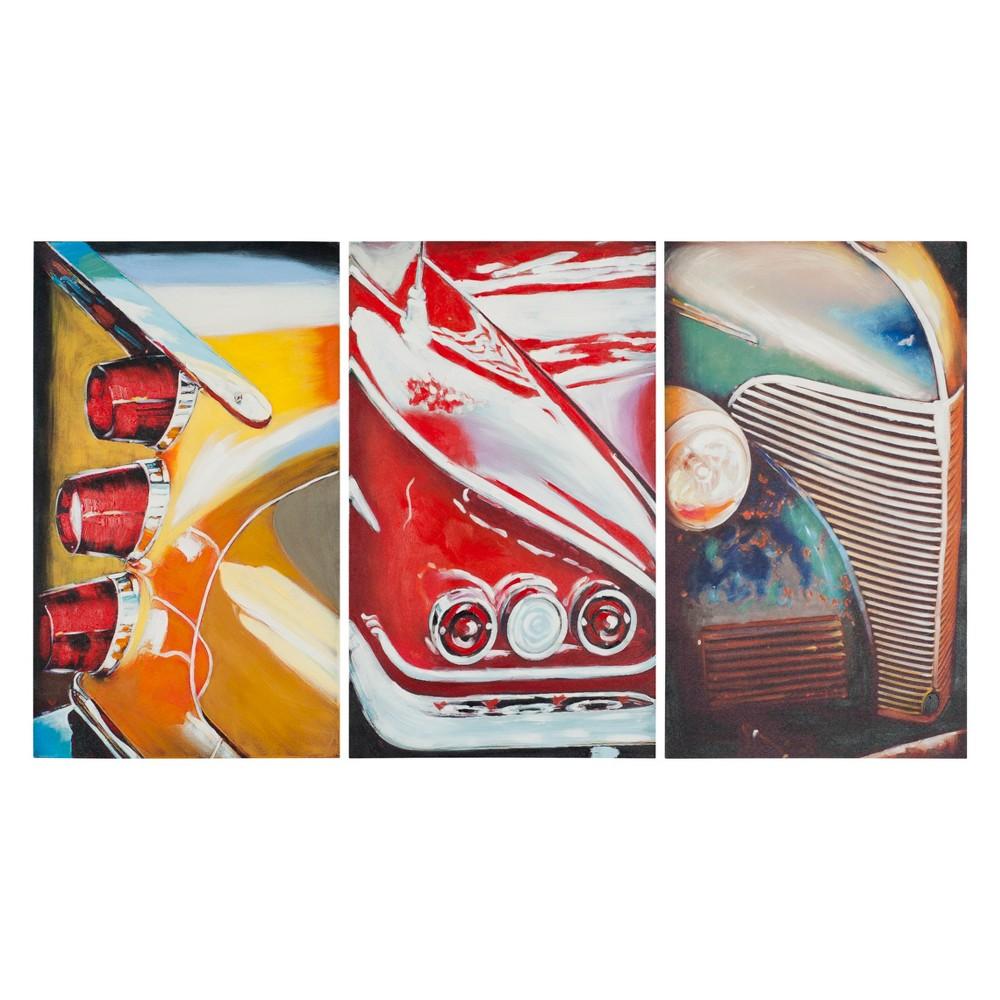 Auto Legends Triptych Wall Art - Safavieh, Multi-Colored
