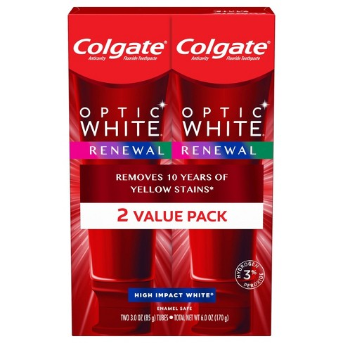 Colgate Optic White Renewal Teeth Whitening Toothpaste High