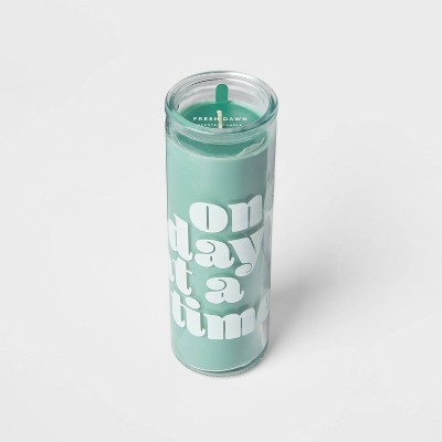 """10oz Glass """"One Day At A Time"""" Candle Fresh Dawn - Room Essentials™"""