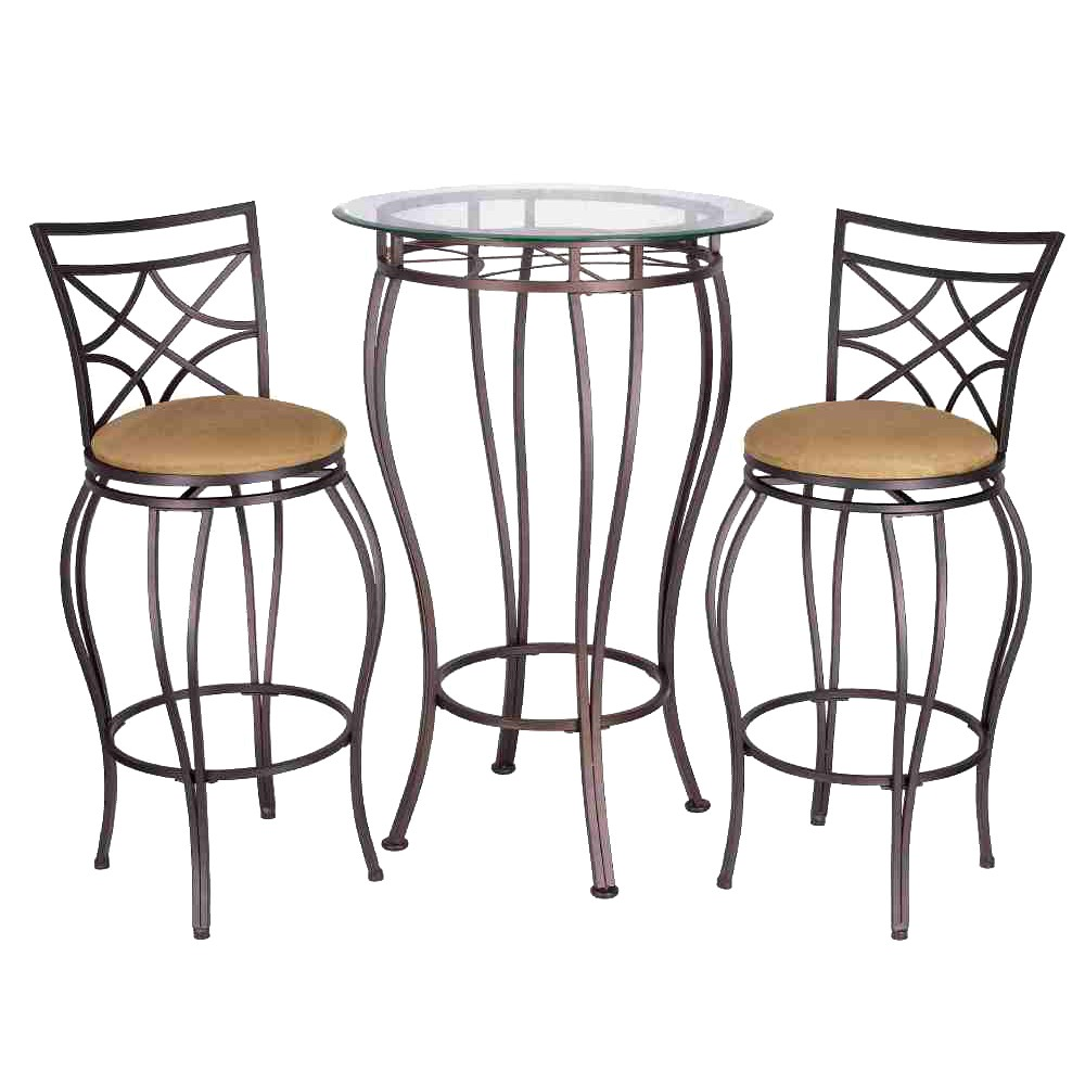 Image of 3pc Galaxy Bistro Set Brown - Home Source