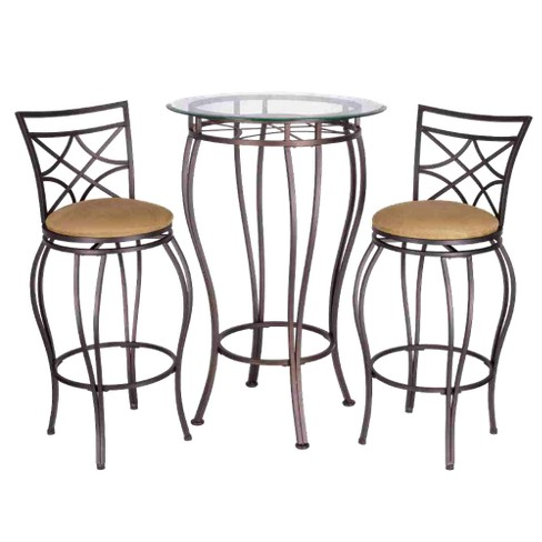 Tremendous 3Pc Galaxy Bistro Set Brown Home Source Onthecornerstone Fun Painted Chair Ideas Images Onthecornerstoneorg