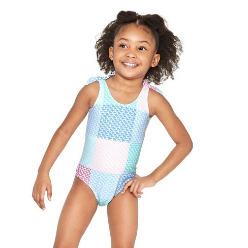 1530f715fc035 Toddler Girls' Patchwork Whale One Piece Swimsuit - Pink/Blue - Vineyard  Vines® For Target : Target