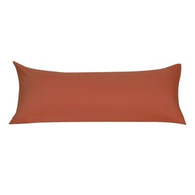 1 Pc Body 1800 Series Soft Brushed Microfiber Pillowcase Orange Red - PiccoCasa