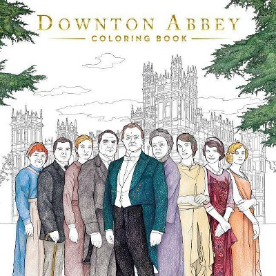 Downton Abbey Coloring Book - (Paperback)