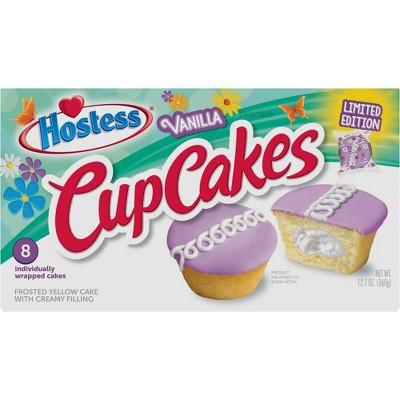 Hostess Spring Vanilla Cupcakes - 12.7oz/8ct